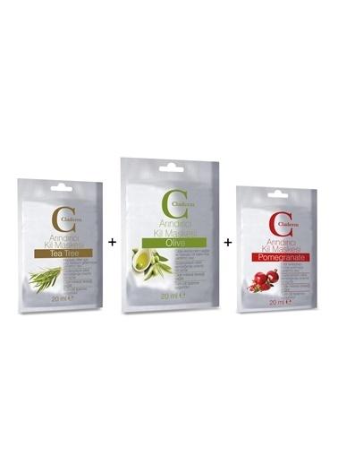 Claderm 20Ml 3'Lü (Tea Tree-Olive-Pomegranate)  Avantaj Paketi Renksiz